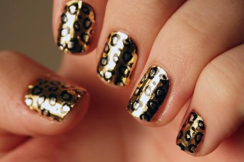 Broadway-Nail-Dress-Metallic-Gold-Leopard-Wraps-Celebrity-Style-Swatch-2