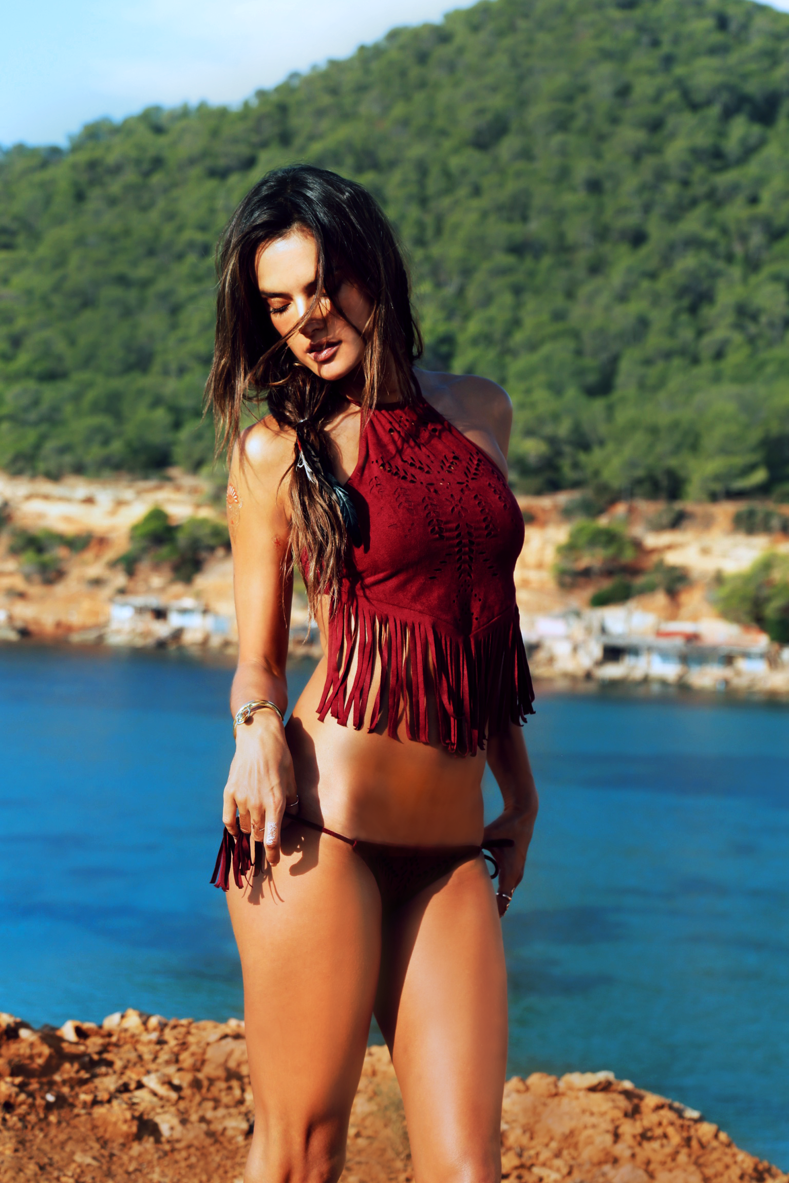 ale-by-alessandra '16-red-fringe-bikini-alessandra-ambrosio